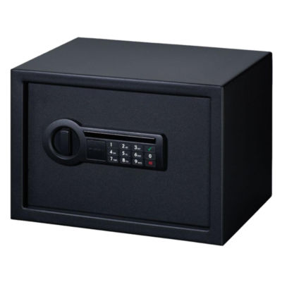 Stack-On Personal Safe Electronic Lock with Shelf Black