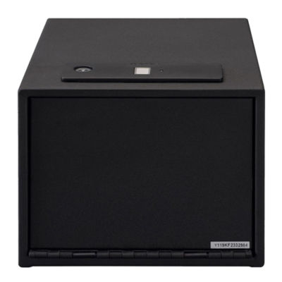 Stack-On Quick Access Safe Biometric Lock With Shelf; Black