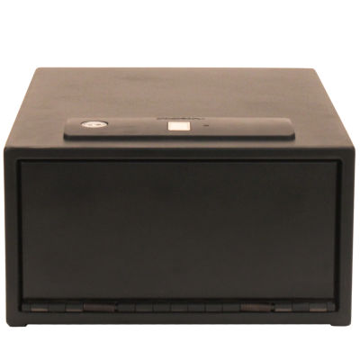 Stack-On Quick Access Safe Biometric Lock With; Black