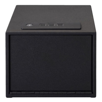 Stack-On Quick Access Safe Electronic Lock With Shelf; Black