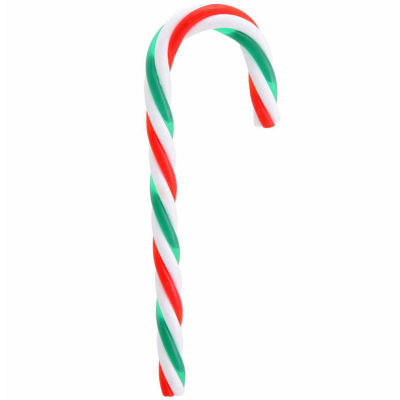 Pack of 12 Red  Green and White Striped Candy Cane Christmas Ornaments 5.75""