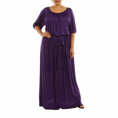 24/7 Comfort Apparel Dress For Day and Night Maxi Dress-Plus
