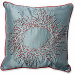 Pillow Perfect Christmas Wreath Throw Pillow