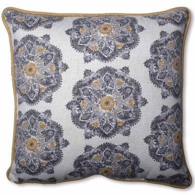 Pillow Perfect Suri Medallion Greystone Pillow