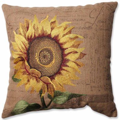 Pillow Perfect Sunflower 16.5-inch Corded Throw Pillow