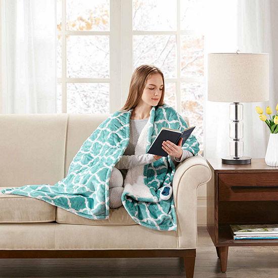 Beautyrest Ogee Oversized Heated Snuggle Wrap