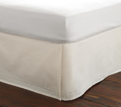 Laura Ashley Solid White Bedskirt Tailored