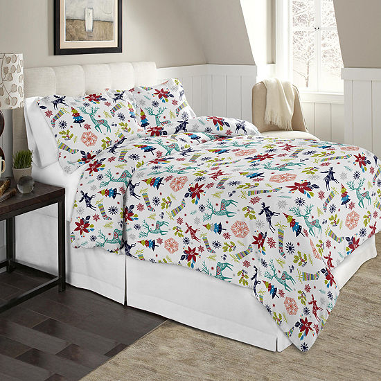 Celeste Home Print Cotton Flannel 190GSM Duvet Set