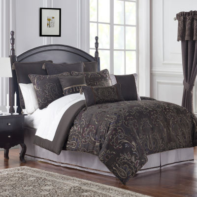 Marquis by Waterford Pierce Chocolate 4PC Comforter Set