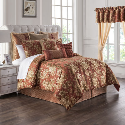 Marquis by Waterford Devlin Paprika 4PC Comforter Set