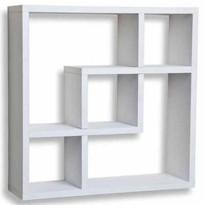 Danya B. Geometric Square  Wall Shelf with 5 Openings