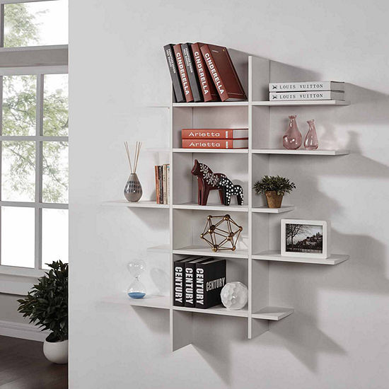 Danya B. Five Level Asymmetric Wall Shelf
