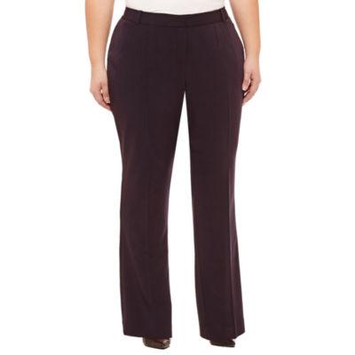 Worthington Womens Curvy Fit Bootcut Trouser