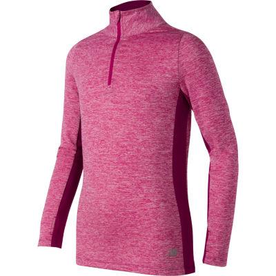 New Balance Long Sleeve Turtleneck T-Shirt-Big Kid Girls