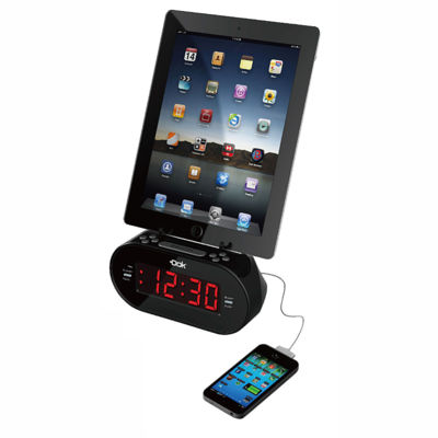 DOK Universal Dual Charger with Alarm Clock And Cradle