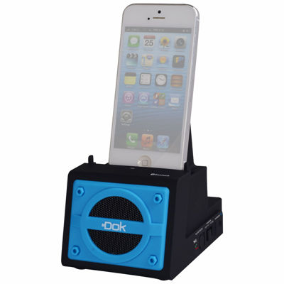 DOK 2 Port Smart Phone Charger with Bluetooth Speaker Speaker Phone Rechargeable Battery