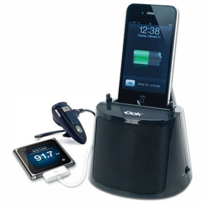DOK 3 Port Charger with Bluetooth Speaker