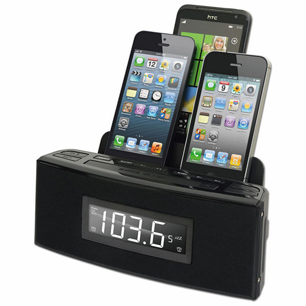 DOK 3 Port Smart Phone Charger with Speaker and Alarm Clock