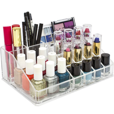 Sorbus Acrylic Top Sectional Cosmetic Organizer - Multi Compartment