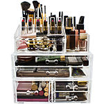 Sorbus Acrylic Cosmetics Makeup & Jewelry StorageCase Display Sets