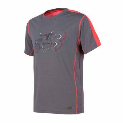 New Balance Short Sleeve T-Shirt-Big Kid Boys