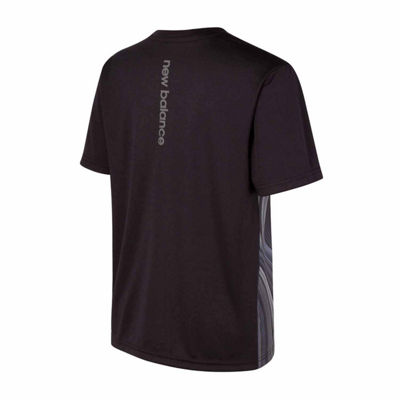 New Balance Short Sleeve Performance Shirt-Big Kid Boys