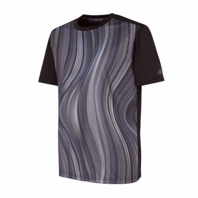 New Balance Short Sleeve Performance Shirt-Big Kid Boys