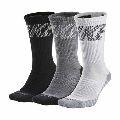 Nike® Mens 3 Pair DRI-FIT Max Cushion Training Crew Sock  - Big & Tall