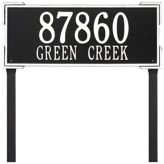 Whitehall Personalized Roanoke Estate Lawn Address Plaque - 2 Line