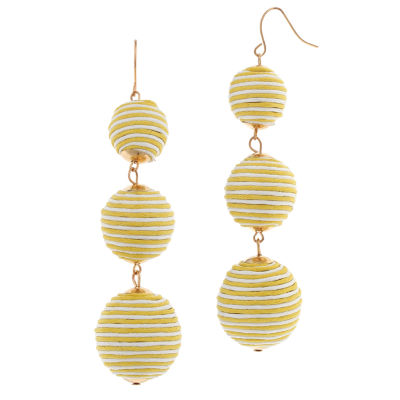 Bijoux Bar Ball Brass Drop Earrings