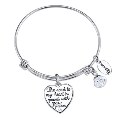 Footnotes Clear Bangle Bracelet