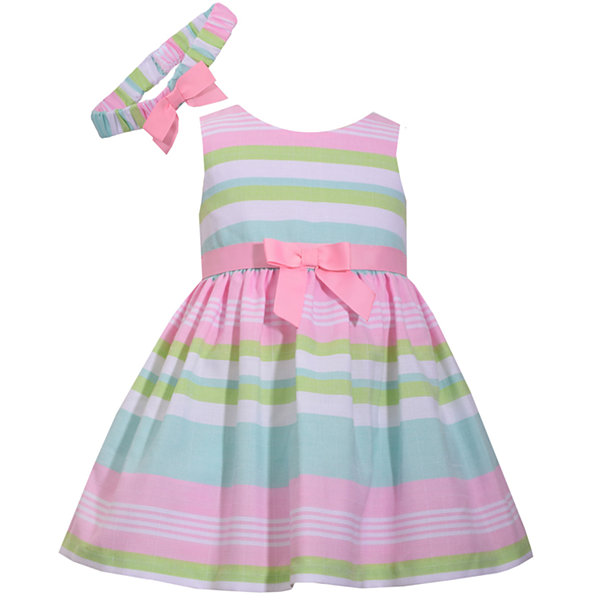 Bonnie Jean Sleeveless Stripe Dress - Baby Girls