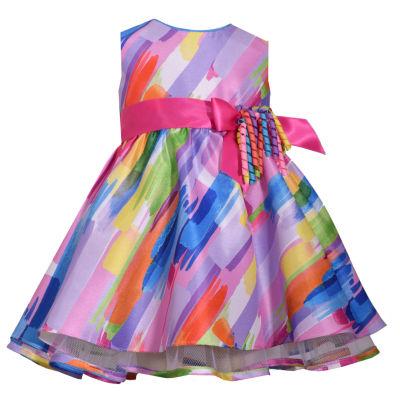 Bonnie Jean Sleeveless Multi Colored Dress - Baby Girls