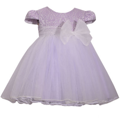 Bonnie Jean Short Sleeve Brocade Ballerina Dress - Baby Girls