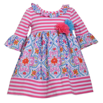 Bonnie Jean Elbow Sleeve A-Line Dress - Baby Girls