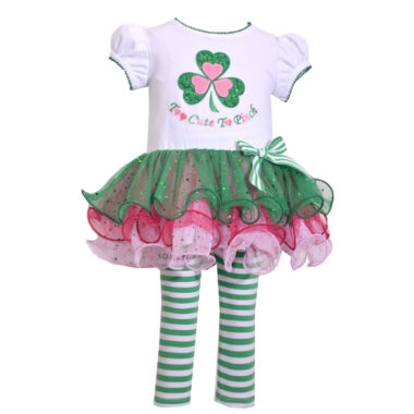Bonnie Jean 2-pc. St Patricks Tutu Legging Set-Baby Girl