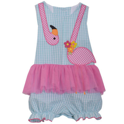 Bonnie Jean Flamingo Romper-Baby Girls