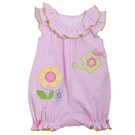 Bonnie Jean Flower Romper -Baby Girls