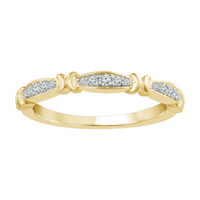 1/10 CT. T.W. Genuine White Diamond 10K Gold Stackable Ring