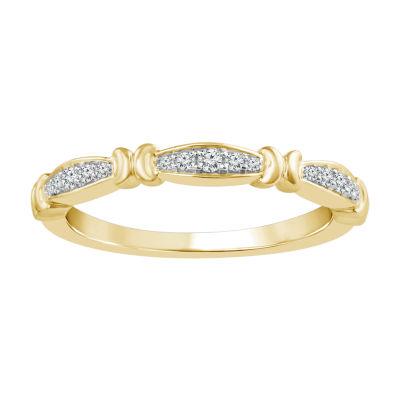1/10 CT. T.W. White Diamond 10K Gold Wedding Band
