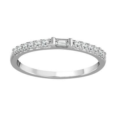 1/6 CT. T.W. White Diamond 10K Gold Wedding Band
