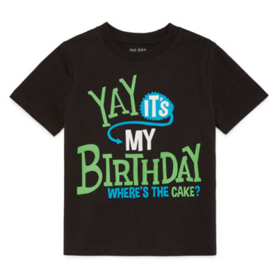 Okie Dokie Birthday Graphic T-Shirt-Toddler Boys