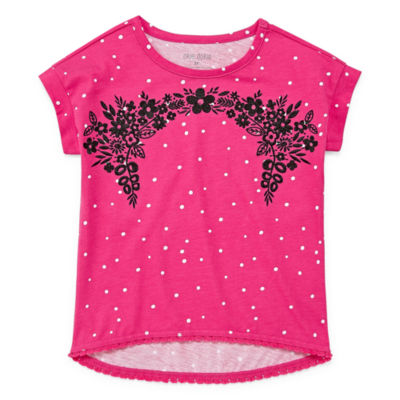 Okie Dokie Embroidered Blouse - Toddler Girls