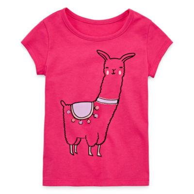 "Okie Dokie 3D Graphic Short Sleeve T-Shirt-Toddler Girls"" 2T-5T"