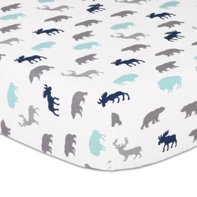 The Peanut Shell Woodland Trail Animals + Insects Crib Sheet