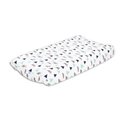 The Peanut Shell Woodland Trail Changing Pad Cover