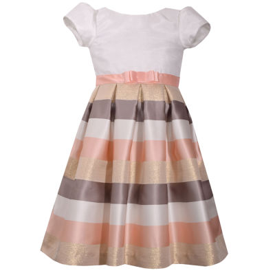 Bonnie Jean Short Sleeve Party Dress - Preschool Girls