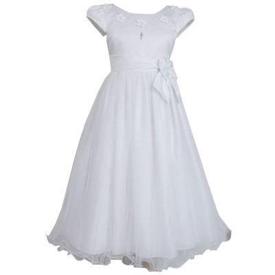 Bonnie Jean Short Cap Sleeve A-Line Dress - Preschool Girls