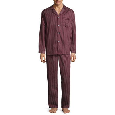 Stafford® Men's Sateen Long Sleeve/Long Leg Pajama Set