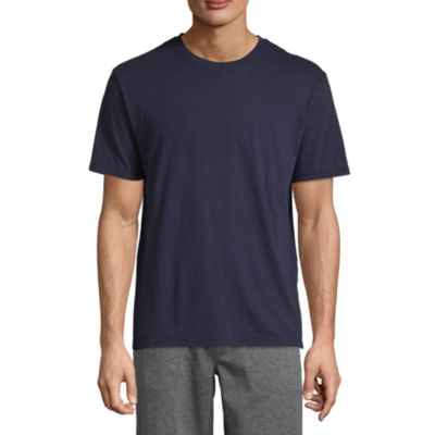 IZOD Mens Knit Pajama Top Short Sleeve